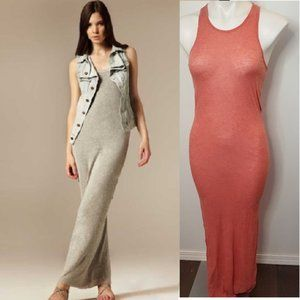 Allsaints Pious Maxi Dress Heathered Peach 10